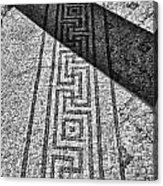 Mosaic 1 Ceasarea Phillippi Beit Sha'en Israel Bw Acrylic Print by Mark Fuller