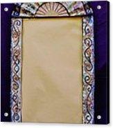 Mosaic Fan Frame Acrylic Print by Charles Lucas