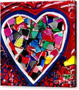 Mosaic Heart Acrylic Print by Genevieve Esson