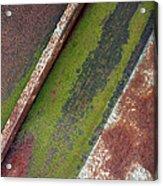 Moss Green-raw Steel Acrylic Print by Tom Druin