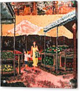 Mother And Child At The Farmer's Market Acrylic Print by Robert Yaeger