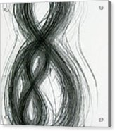Mother And Child Figure-eight Study Acrylic Print by Michael Morgan