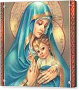 Mother Of God Acrylic Print by Zorina Baldescu