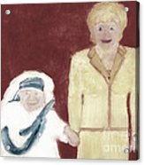 Mother Teresa And Princess Diana In Heaven 3 Acrylic Print by Richard W Linford