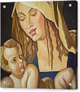 Mother With Her Child Acrylic Print by Prasenjit Dhar