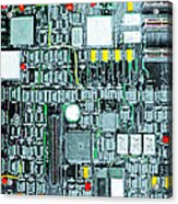 Motherboard Abstract 20130716 Square Acrylic Print by Wingsdomain Art and Photography