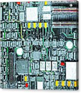 Motherboard Abstract 20130716 Acrylic Print by Wingsdomain Art and Photography
