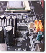 Motherboard Tanks Acrylic Print by Conor Murphy