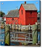 Motif Number One Rockport Lobster Shack Maritime Acrylic Print by Jon Holiday