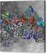 Moto Art  Floral Sp01bb Acrylic Print by Variance Collections