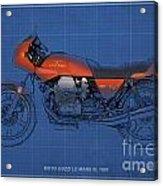 Moto Guzzi Le Mans IIi 1981 Vintage Style Acrylic Print by Pablo Franchi