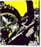 Motocross Acrylic Print by Chris Butler