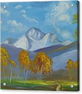 Mount Sneffels San Juan Mountains Colorado Acrylic Print by Patricia Kimsey Bollinger