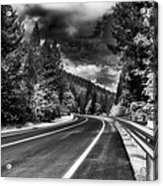 Mountain Highway Acrylic Print by Mick Burkey
