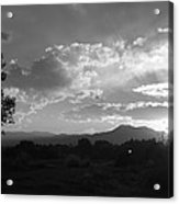 Mountain Sunset Acrylic Print by Tyler Cheshire