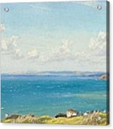 Mount's Bay C1899 Acrylic Print by Arthur Hughes