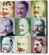 Moustaches Acrylic Print by Tony Rubino