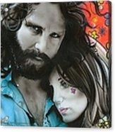 'mr Mojo Risin And Pam' Acrylic Print by Christian Chapman Art