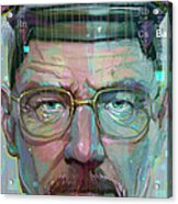 Mr. White Acrylic Print by Jeremy Scott
