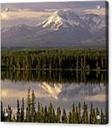 Mt Drum Over Willow Lake Wrangell-st Acrylic Print by Calvin Hall