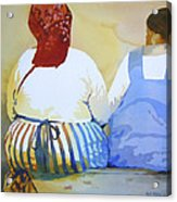 Muchachas Acrylic Print by Kris Parins