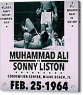 Muhammad Ali Poster Acrylic Print by Dan Sproul