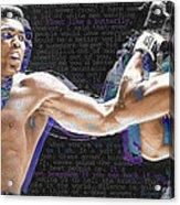 Muhammad Ali Acrylic Print by Tony Rubino