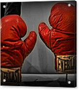 Muhammad Ali's Boxing Gloves Acrylic Print by Bill Cannon