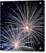 4th Of July Fireworks 3 Acrylic Print by Howard Tenke