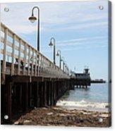 Municipal Wharf At The Santa Cruz Beach Boardwalk California 5d23768 Acrylic Print by Wingsdomain Art and Photography