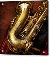 Music - Brass - Saxophone  Acrylic Print by Mike Savad