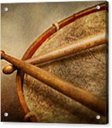 Music - Drum - Cadence  Acrylic Print by Mike Savad