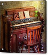Music - Organist - Playing The Songs Of The Gospel  Acrylic Print by Mike Savad