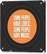 Music Quotes Typography Print Poster Acrylic Print by Lab No 4 - The Quotography Department