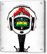 Music Roboto Acrylic Print by Frederico Borges