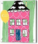 Mustache House Acrylic Print by Linda Woods
