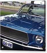 Mustang Classic Acrylic Print by Bobbee Rickard