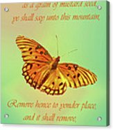Mustard Seed Faith Acrylic Print by Larry Bishop