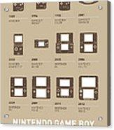 My Evolution Nintendo Game Boy Minimal Poster Acrylic Print by Chungkong Art
