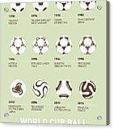 My Evolution Soccer Ball Minimal Poster Acrylic Print by Chungkong Art