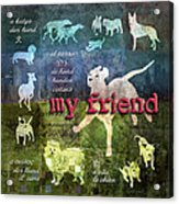 My Friend Dogs Acrylic Print by Evie Cook