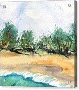 My Secret Beach Acrylic Print by Marionette Taboniar