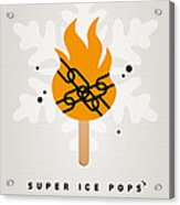 My Superhero Ice Pop - Ghost Rider Acrylic Print by Chungkong Art