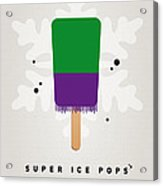 My Superhero Ice Pop - The Hulk Acrylic Print by Chungkong Art