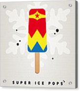 My Superhero Ice Pop - Wonder Woman Acrylic Print by Chungkong Art