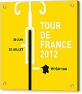My Tour De France 2012 Minimal Poster Acrylic Print by Chungkong Art