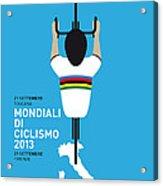 My World Championships Minimal Poster Acrylic Print by Chungkong Art