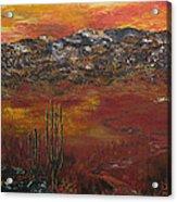 Mystic Desert Acrylic Print by Linda Eversole