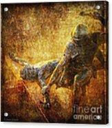 Nailed To The Cross Via Dolorosa 11 Acrylic Print by Lianne Schneider