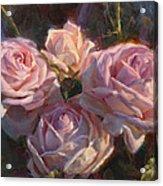 Nana's Roses Acrylic Print by Karen Whitworth